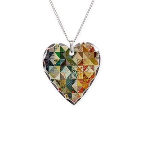 quilt pattern jewelry fun patchwork quilt necklace by nansphotoart