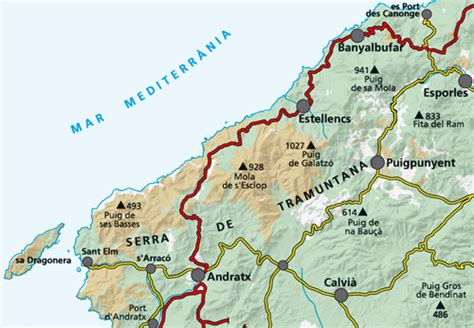 mallorca balearics spain 1 75 000 hiking map gps precise kompass books majorca mallorca tramuntana south hiking map alpina