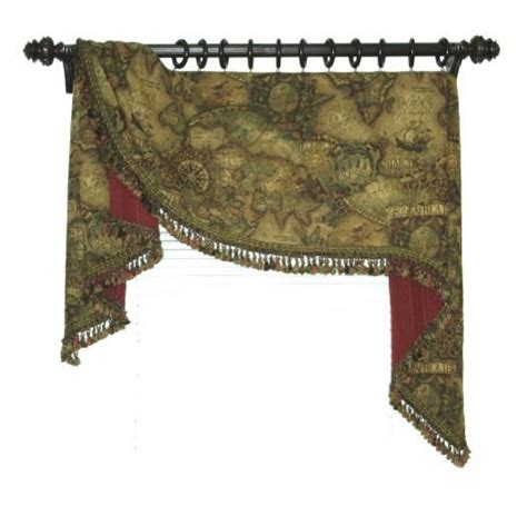 upholstery workroom magellan moreland style tapestry valance made in house at