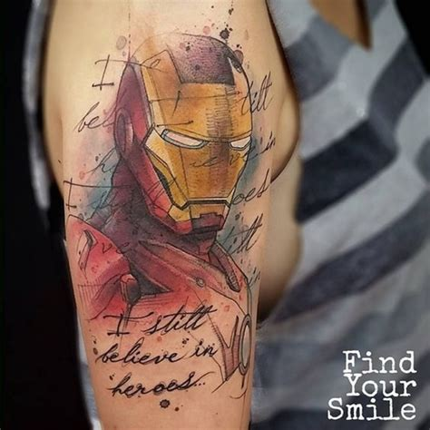 40 mightiest marvel comic tattoo designs