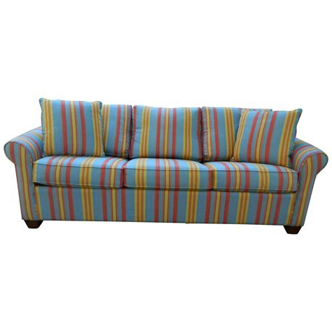 Multi Fabric Sofa by Upholstered Sofa Bed In A Multi Color Stripe Fabric 20th Century For Sale At 1stdibs