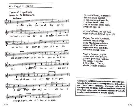 grazie dei fiori testo sant alfonso e dintorni 187 archiv 187 canti in onore di