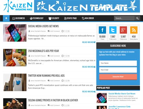 kaizen awesome magz blogger template 171 amazing blogger