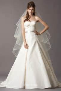 Draped sweetheart a line chapel train wedding dress groupdress com