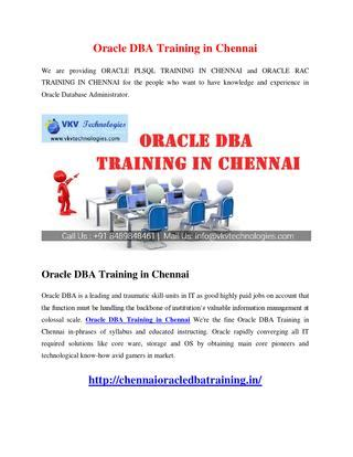 oracle tutorial for experienced oracle dba training in chennai by vkvtechnology issuu