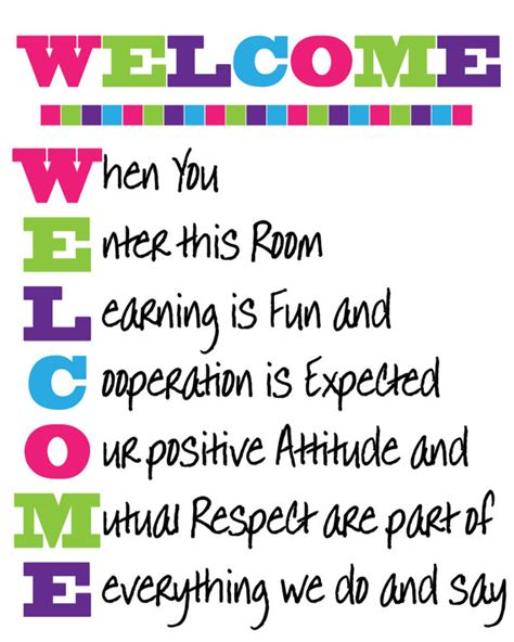 themes for an english class welcome classroom sign instant download by