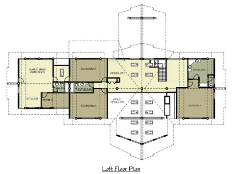 ranch log home floor plans with loft craftsman style log