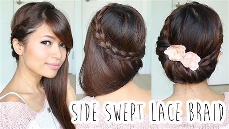 hair tutorial fold over lace braid updo hairstyle hair tutorial youtube