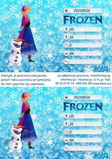 frozen film za djecu pozivnice za rođendan frozen snježno kraljevstvo
