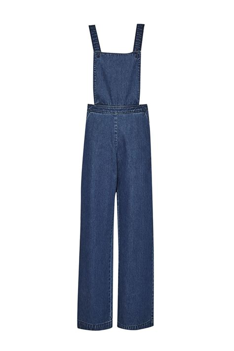 Connection Riviera Handbag by Connection Riviera Denim Wide Leg Dungarees In Blue