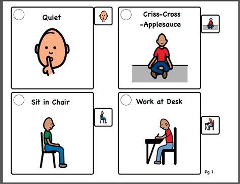 printable cue cards communication behavioral cues victories n autism