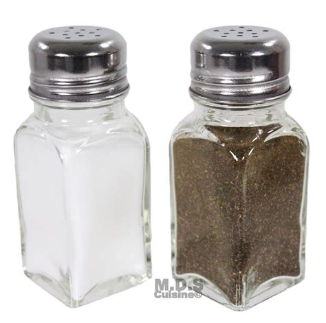 salt and pepper shakers salt and pepper shaker set of 2 stainless steel and clear