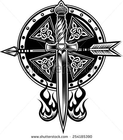 vikings tattoo stock vector illustration 254185390