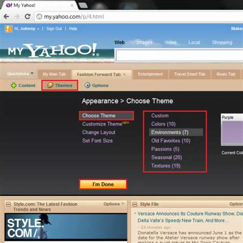 theme definition yahoo how to create custom themes in my yahoo howtech