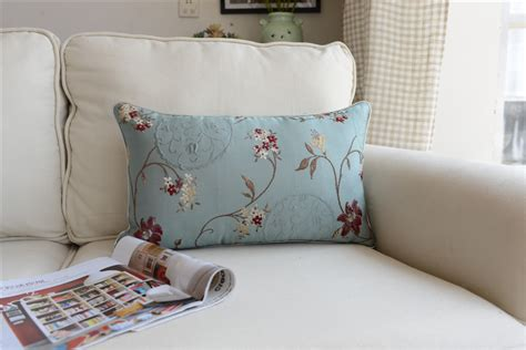 Sarung Bantal Sofa Cushion Cover Shabby Chic Blue Flower shabby chic country cottage floral blue sofa throw pillow cushion cover ebay