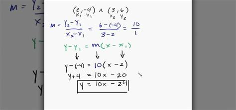 How To Find On Line Write Equation Of A Line Given Two Points Jennarocca