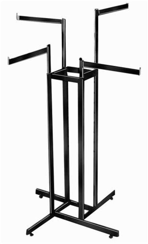 black 4 way arm rack faceout arms for coat