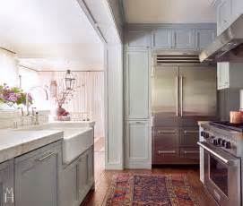 Blue Grey Kitchen Cabinets Ceiling Mount Range Hood Design Ideas