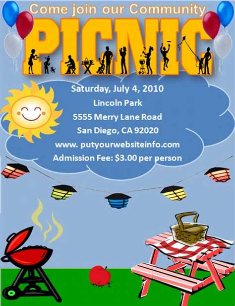 picnic flyer template picnic flyers microsoft word templates