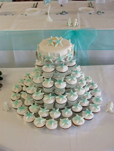beach themed cupcakes wedding   Visit disneythemedweddings