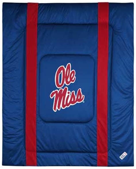 ole miss comforter mississippi ole miss rebels side lines comforter