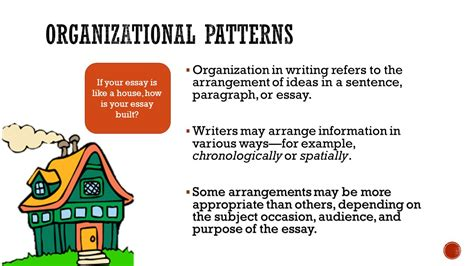 what is pattern of organization in reading organizational patterns in writing ppt video online download