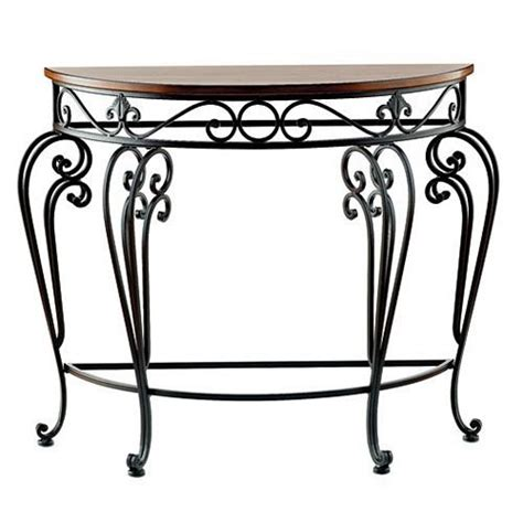 Metal Entry Table Metal Entry Table Woodland Imports 92327 Curved Metal And Wood Entry Table Atg Stores Coral