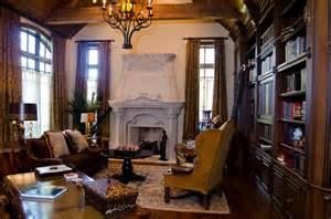 English tudor estate traditional home office oklahoma city by