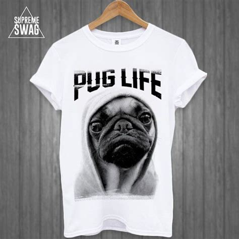 pug shirts mens supreme swag tshirt pug by supremeswagtshirts 19 99 gift idea s