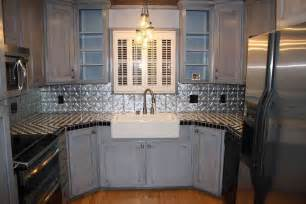 Tin Tiles For Backsplash In Kitchen by Kitchen Applying Tin Backsplash Ideas For Kitchen