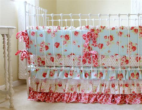 chic crib bedding shabby chic baby bedding sets shabby chic pink 5pc baby