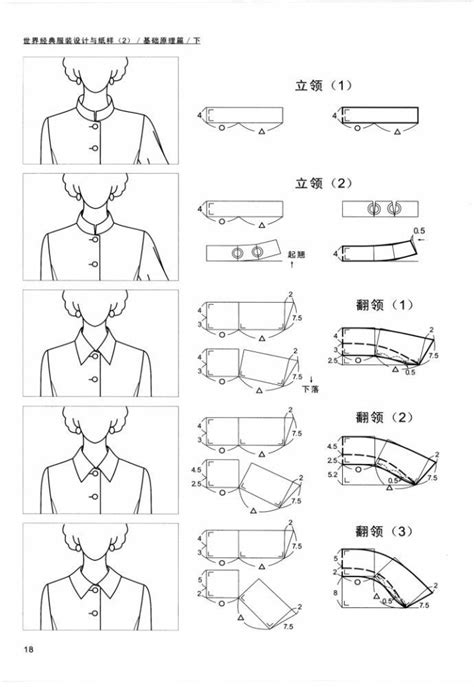 pattern drafting of collars 1000 images about moldes dicas cuellos on pinterest