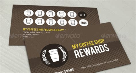 coffee shop loyalty card template loyalty card template 12 great designs to use now