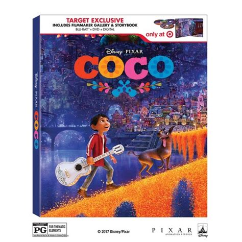 coco blu ray coco target exclusive blu ray dvd digital storybook