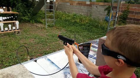backyard airsoft backyard airsoft shooting gallery youtube gogo papa