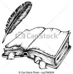 Literary Essay Clipart by Eps Vector De Pluma Libro Abierto Dibujo Dibujo De Abierto Libro Csp7940934 Buscar