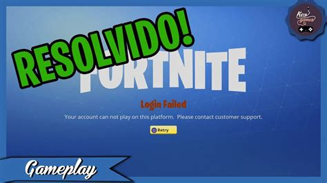 Solving the Login Failed Error (Your account can not play