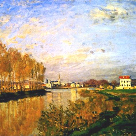 claude monet s quot the seine at argenteuil quot aka vanilla sky a r t monet and sky
