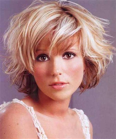 messy hairstyles for fatter faces short bob haircuts for round faces bob hairstyles 2017