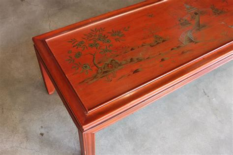 Marked Furniture by Lacquer Chinoiserie Coffee Table Marked Widdicomb