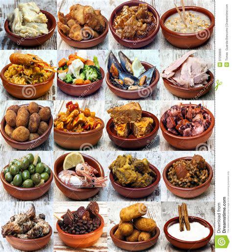 cucina tipica libanese collage de la cocina espa 241 ola imagen de archivo libre de