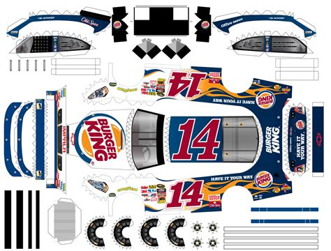 Nascar Papercraft - scheidt production production i did for burger