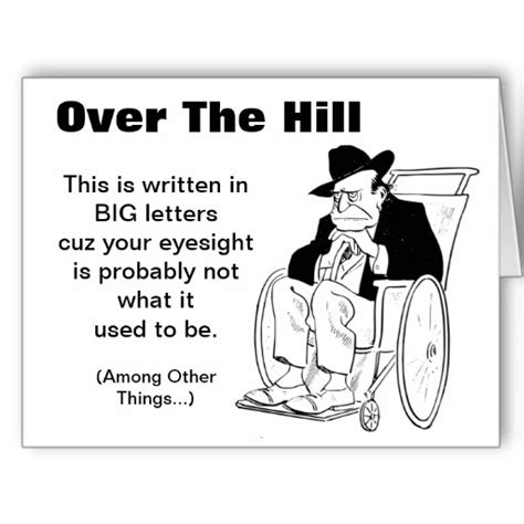 over the hill 60th birthday poems funny over the hill man in wheelchair old fart birthday card
