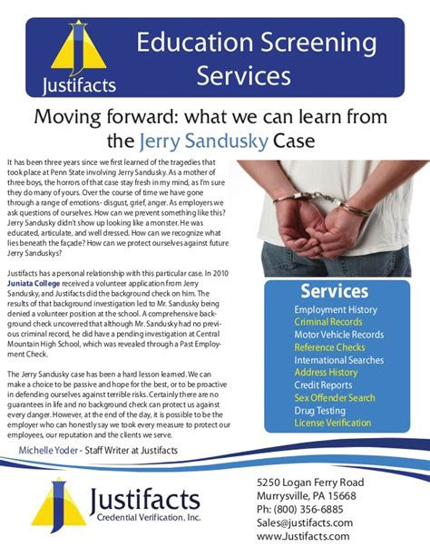 Justifacts Background Check Justifacts Moving Forward What We Can Learn From The Jerry Sandusk