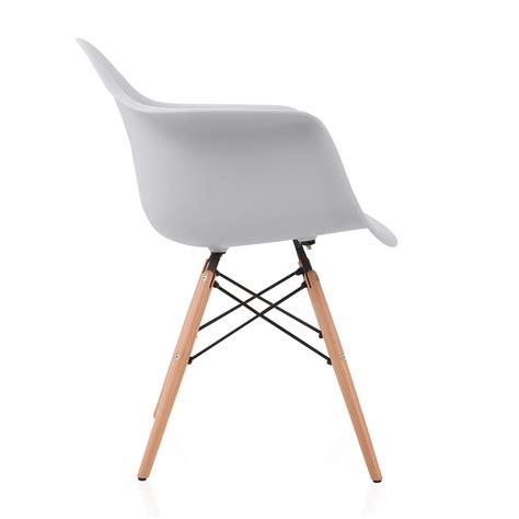 daw armchair eames style daw light gray plastic dining armchair with