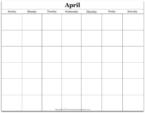 make your own calendar free printable free monthly blank calendar printable any year true aim