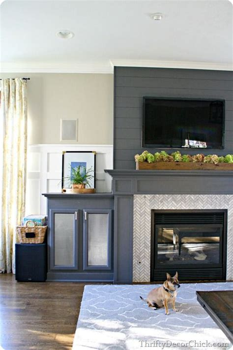 gray fireplace 13 planked wall finished fireplace foyer home