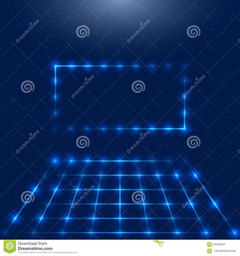 taking a stock of space lighting and design in your frame with led lights stock vector image 64165394