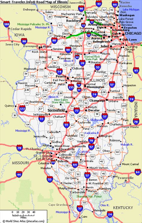 map of il map of illinois map pictures
