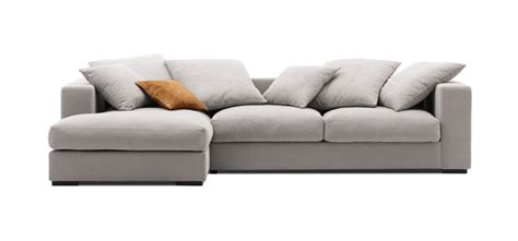 Sectional With Chaise Lounge by Sofas Cenova Light Grey Frisco Fabric Chaise Lounge